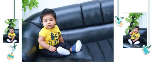 Baby Shevon Turns Six Months : Baby Shoot